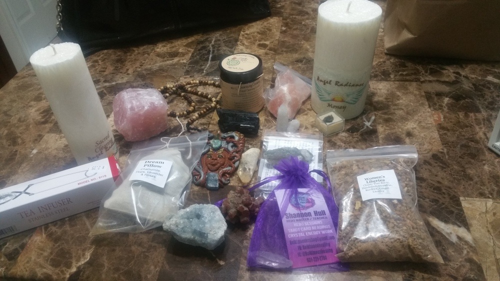 WE  SELL HEALING HERBS,TEAS,CANDLES, CRYSTALS, JEWELERY , NATURAL BODY AND HAIR PRODUCT
